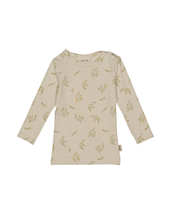 Petit Piao Bluse med print / oat