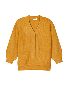 name it TENNAH strik cardigan / Spruce Yellow