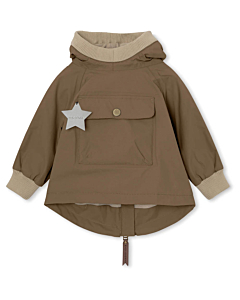 Miniature Baby Vito Fleece Anorak / wood