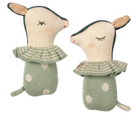 Maileg Bambi rangle - Dusty mint